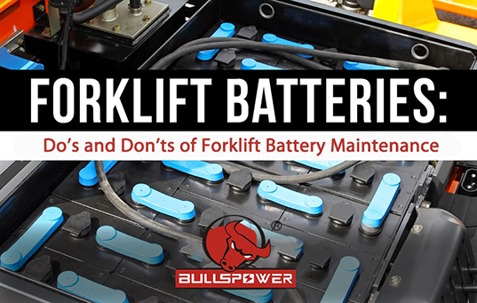 Forklift battery maintenance precautions and precautions
