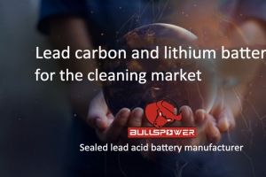 Lead carbon and lithium batteries for the cleaning market
