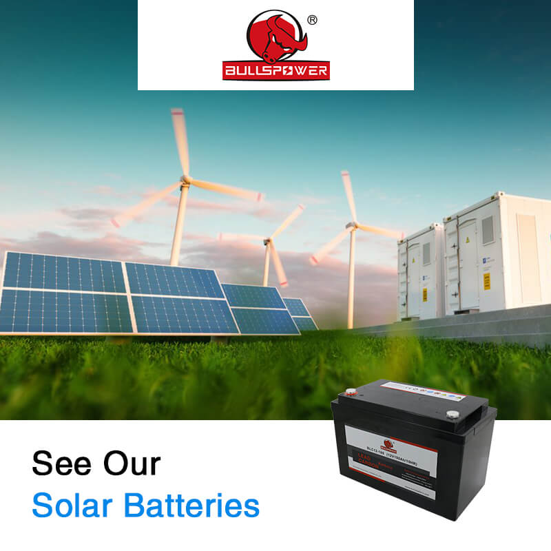 Why are deep cycle batteries 12V used in solar energy?