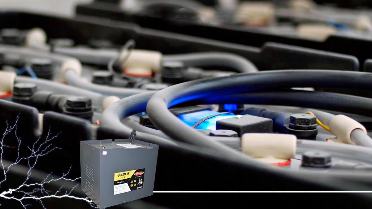 Lead-acid forklift batteries