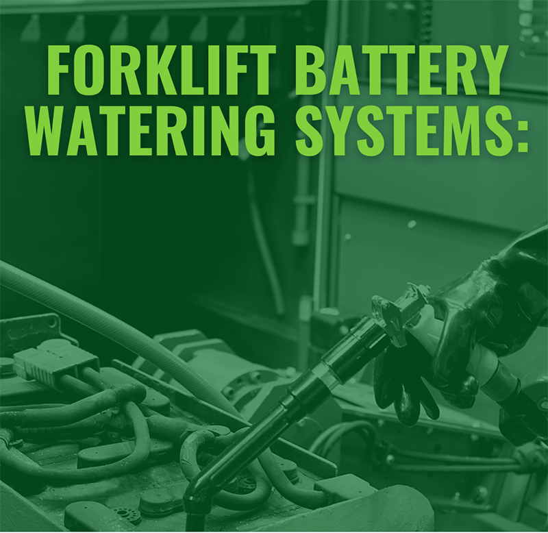 How to Water a Lead-acid Battery simply: forklift battery watering made easy