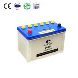 12V 80ah Dry charged Automotive Starter battery